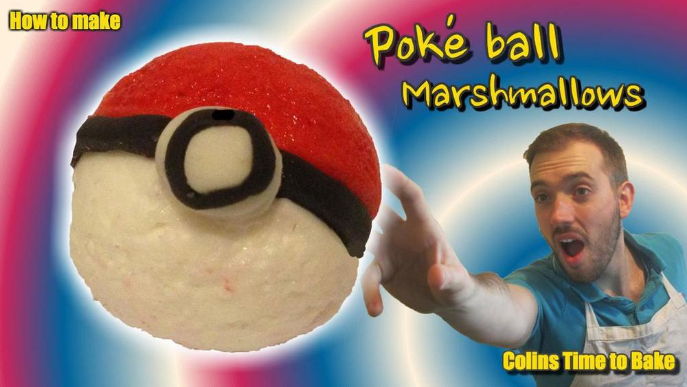 Marshmallow Pokeballs
