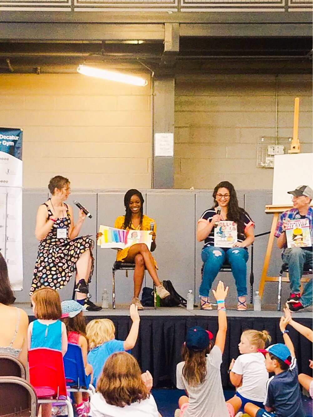 "On the ""You Go, Girl!"" children's book panel at the Decatur Recreation Center"