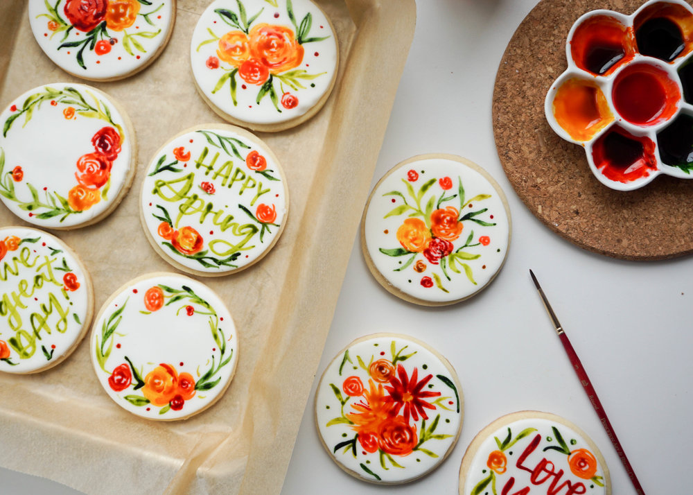 Watercolor Sugar Cookies