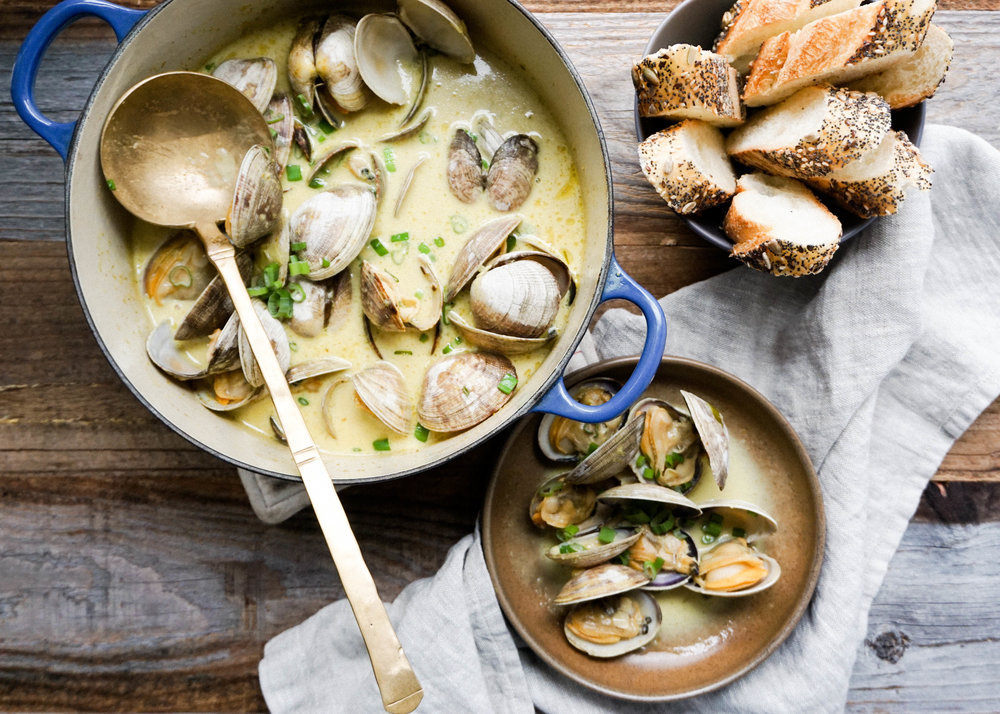 Coconut Curry Clams