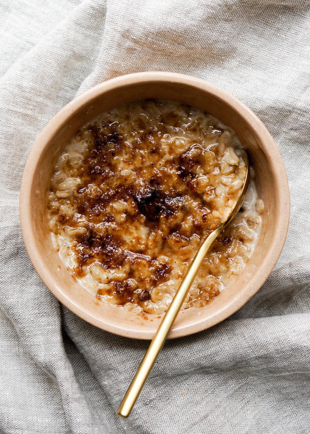 Bruleed Brown Sugar Oatmeal