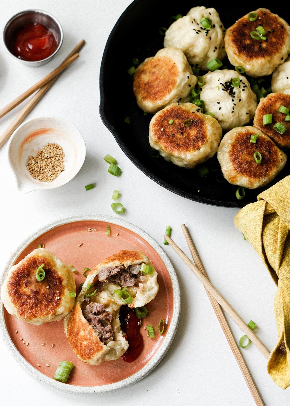 Cheeseburger Shen Jian Bao