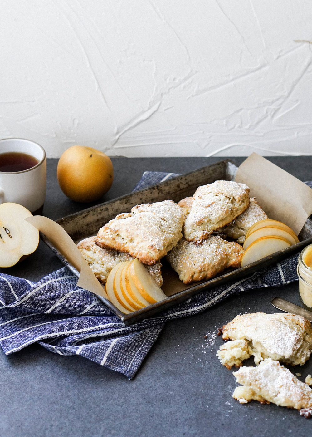 Asian Pear Scones with Miso Honey Butter