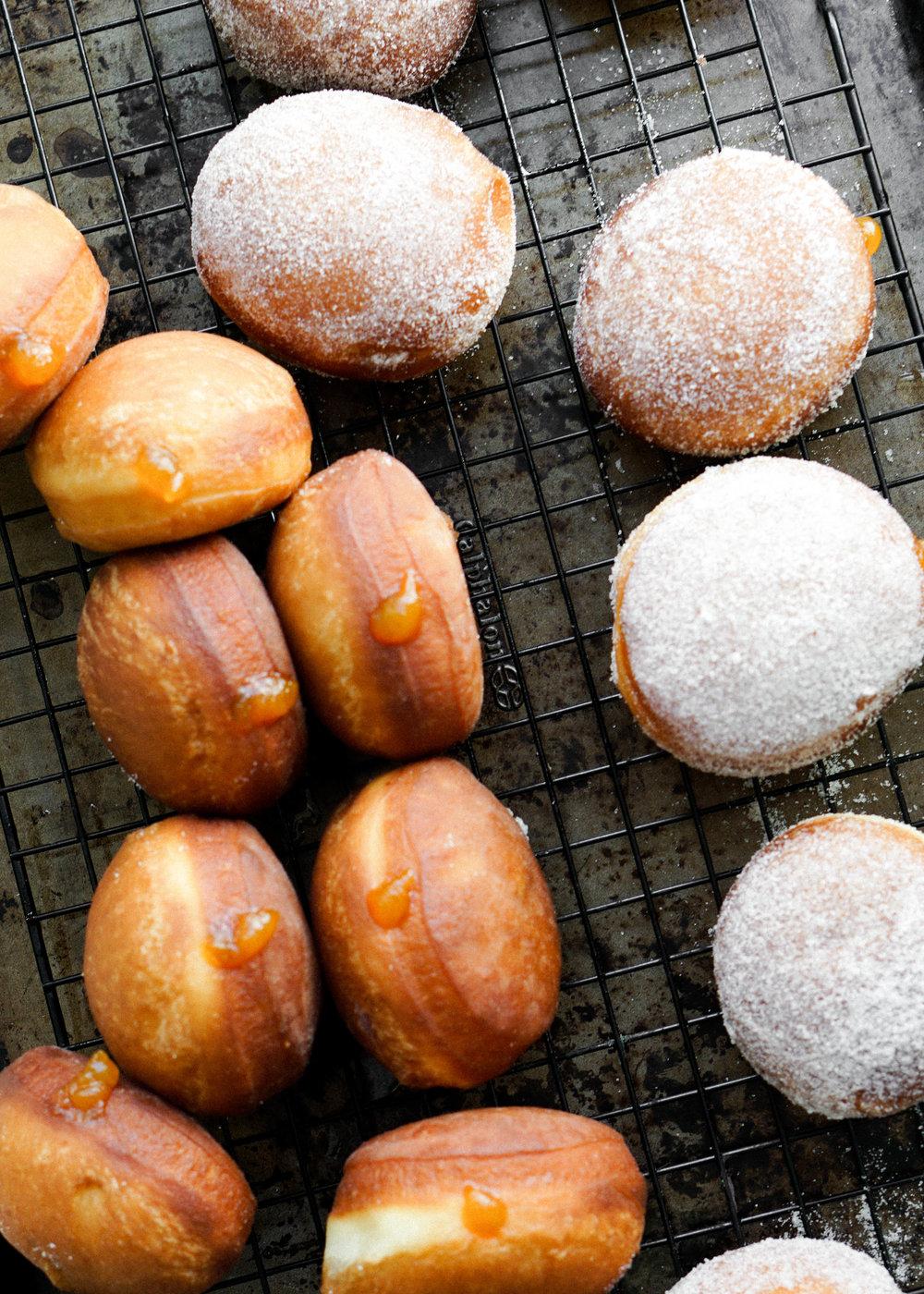 Vanilla Pumpkin Jam Donuts