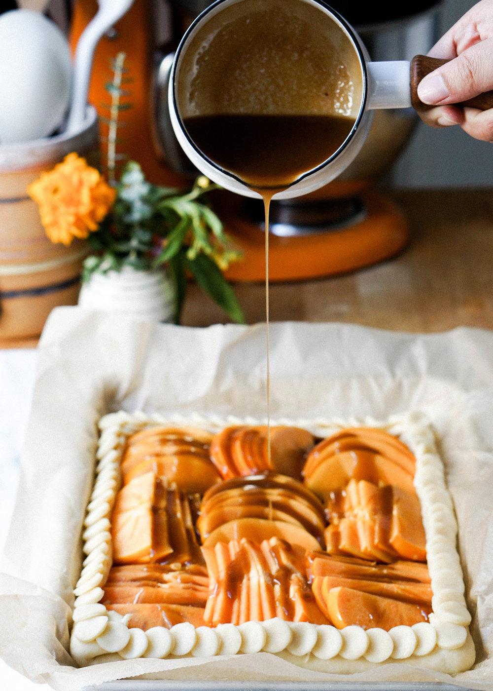 Bourbon Persimmon Galette