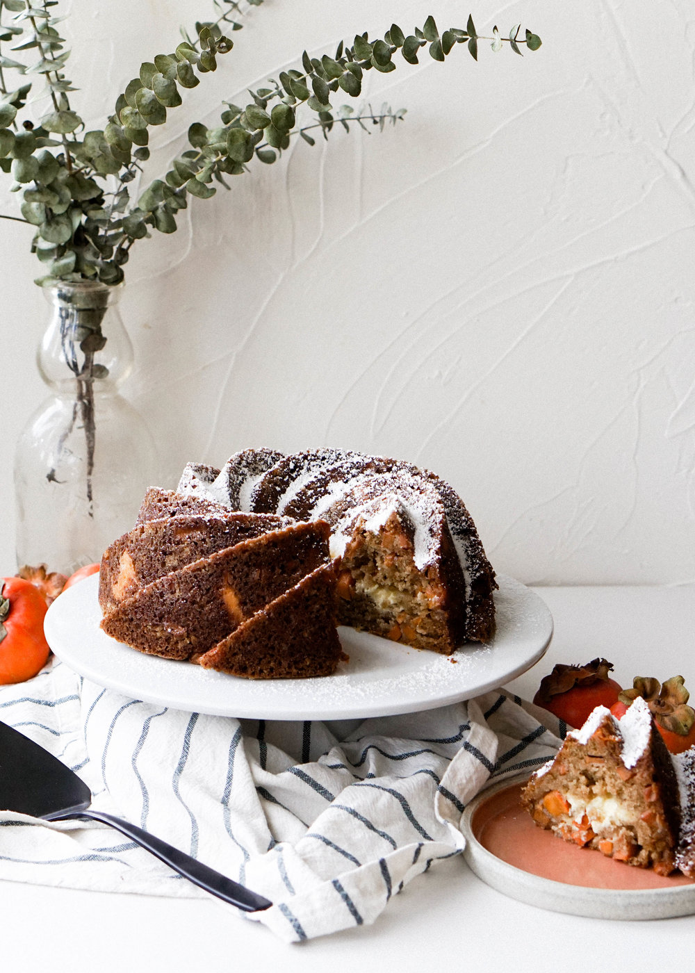 Persimmon and Cream Cheese Bundt Cake
