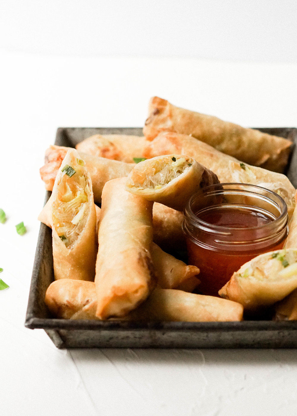 Chicken and Cabbage Spring Rolls // https://eatchofood.com/blog/2019/1/6/chicken-and-cabbage-spring-rolls