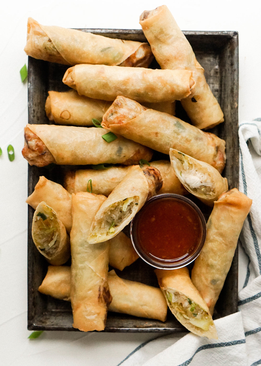 Chicken and Cabbage Spring Rolls - Eat Cho Food
