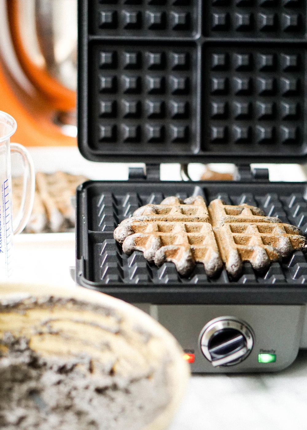 Easy and Simple Black Sesame Waffle // https://eatchofood.com/blog/2019/1/12/black-sesame-waffles