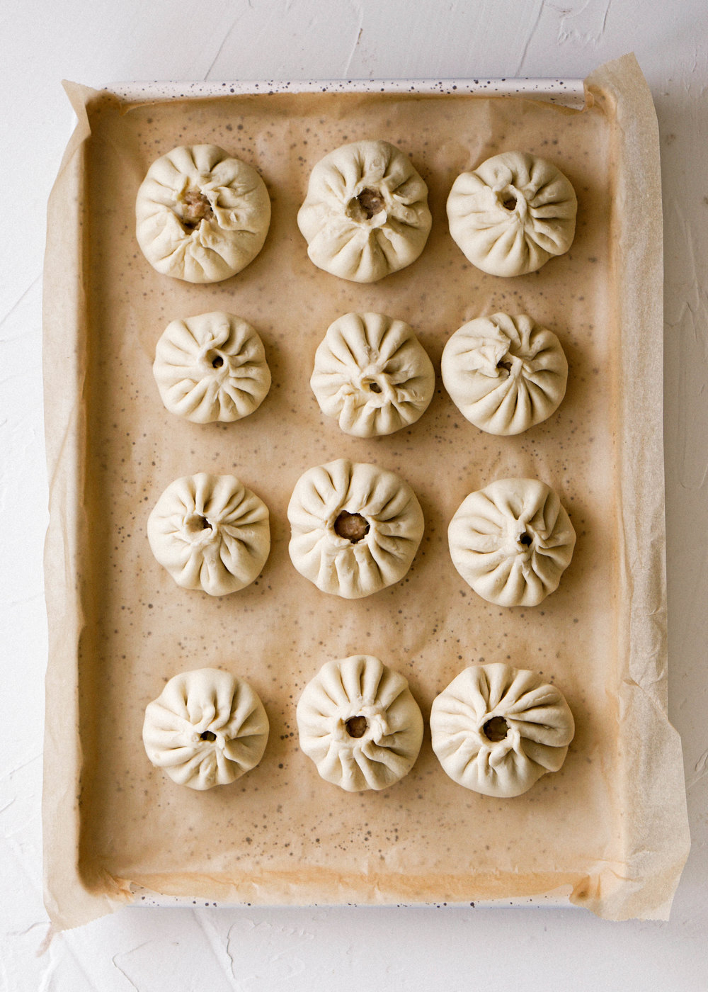 Chicken and Leek Steamed Buns