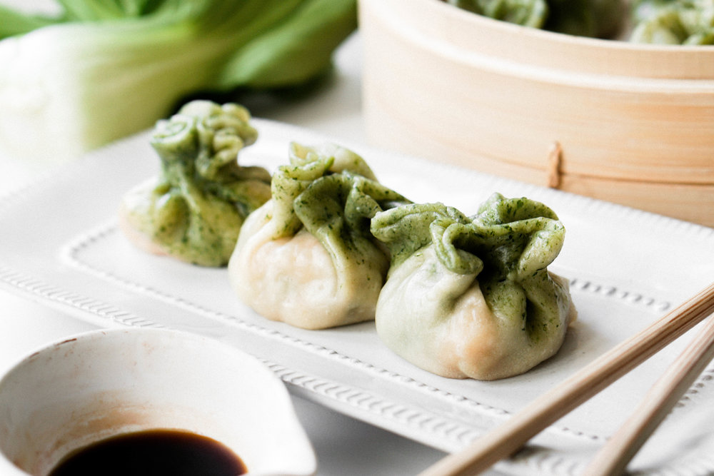 Bok Choy and Shrimp Dumplings