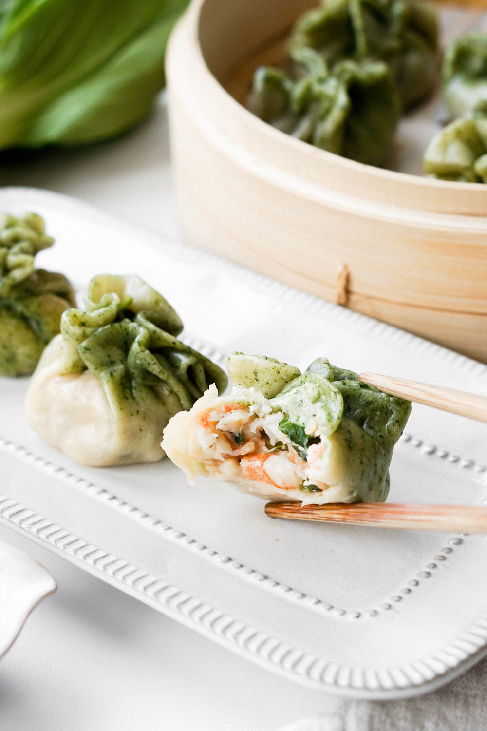 Bok Choy and Shrimp Dumplings // Eat Cho Food