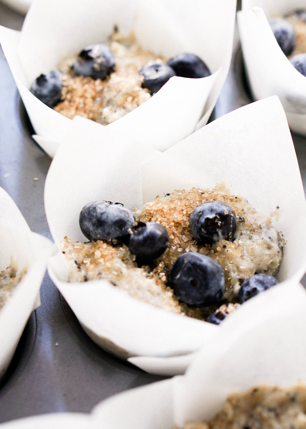 Black Sesame Blueberry Muffins - Eat Cho Food
