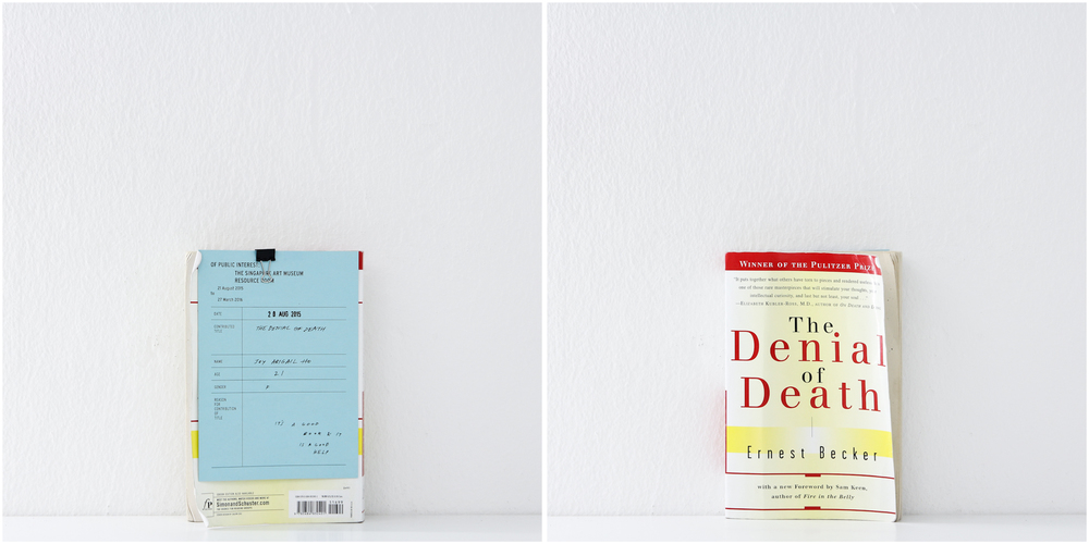 'The Denial of Death', 20/8/15, Joy Abigail Ho, 21, Female