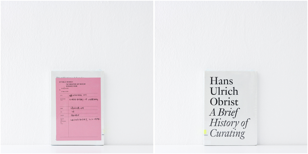 'A Brief History of Curating', 1/11/15, Vanessa Lim	, 26, Female