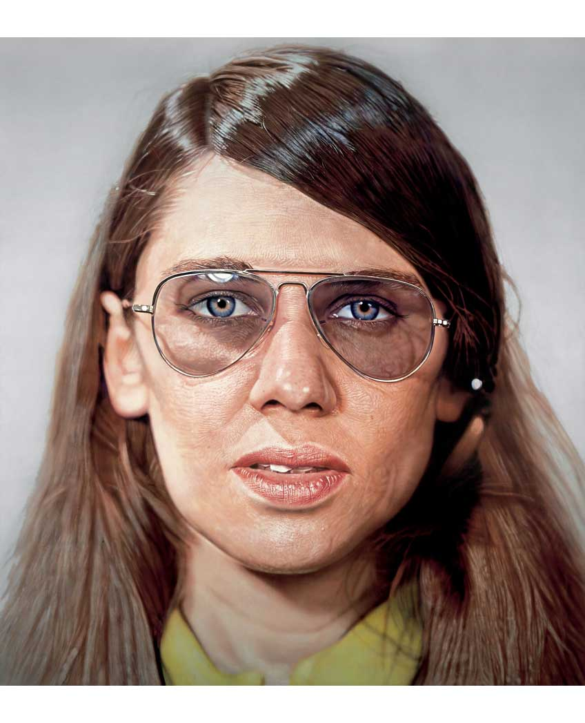 Susan by Chuck Close (1971)  acrylic on gessoed canvas