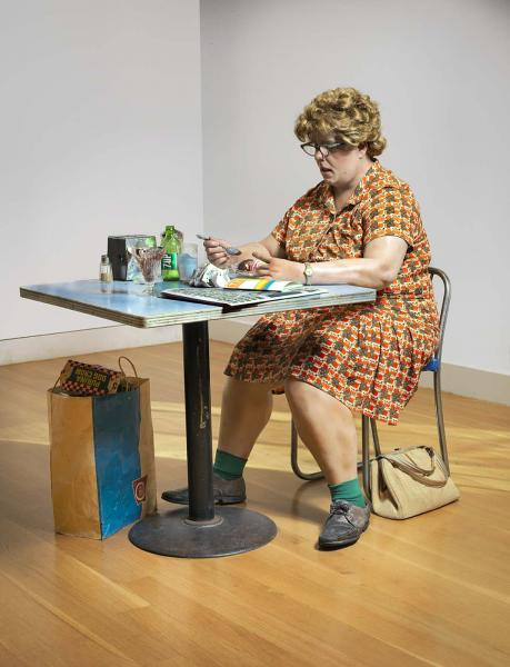 Duane Hanson - Woman Eating