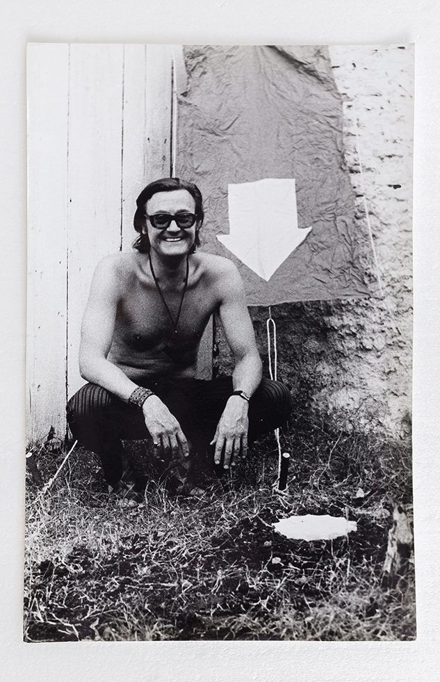 Signs IX or Burial and unearthing of a piece of cedar wood / Signaling IX or Interment and Disinterment of a Piece of Cedar Wood, 1971-72, Edgardo Antonio Vigo, gelatin silver print.    Learn more about this piece...