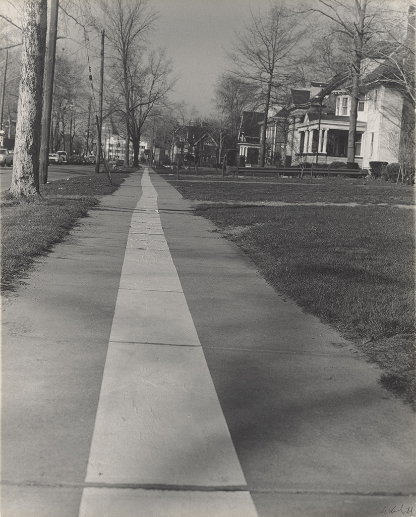 Tape Project: Sidewalk 1 ,1971, Jaime Davidovich, gelatin silver print.    Learn more about the artist...