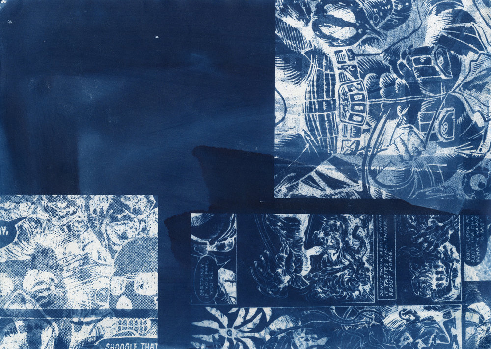 """Magic Puzzle"", Cyanotype, 2018."