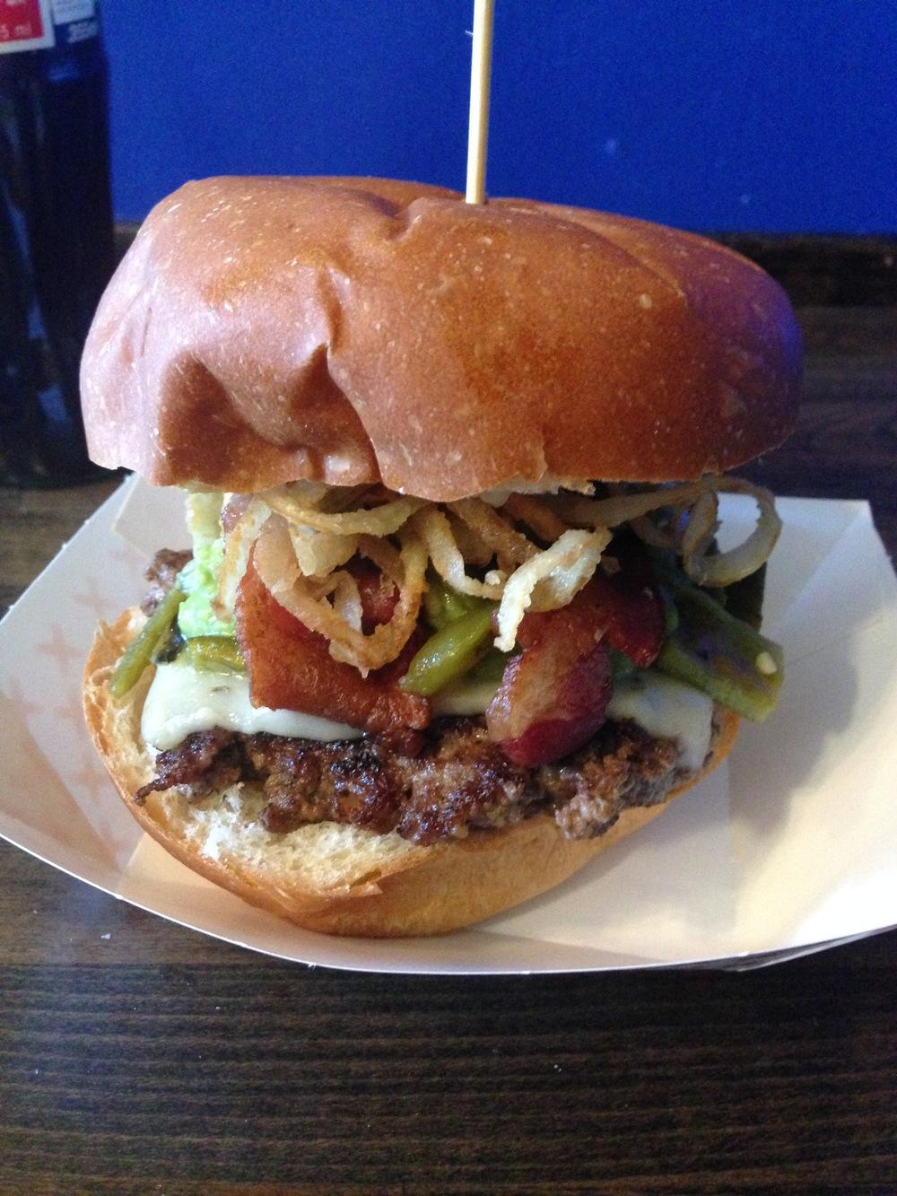 Knuckle Sandwich's Piñata burger