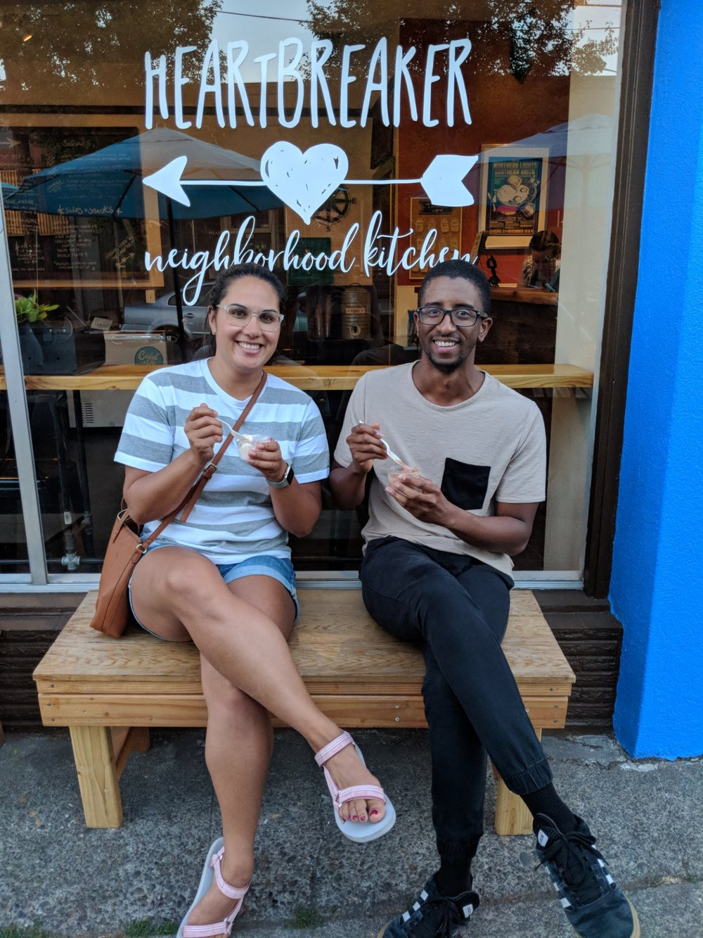 Dwight and me with our Heartbreaker ice cream