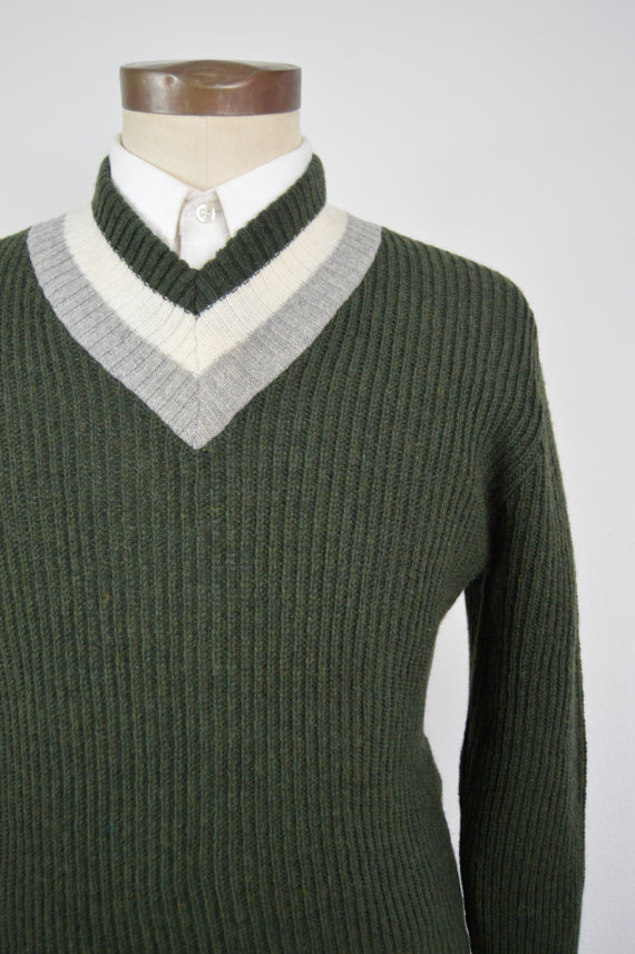 1960s Deadstock New Yorker Sweater Corp V Neck