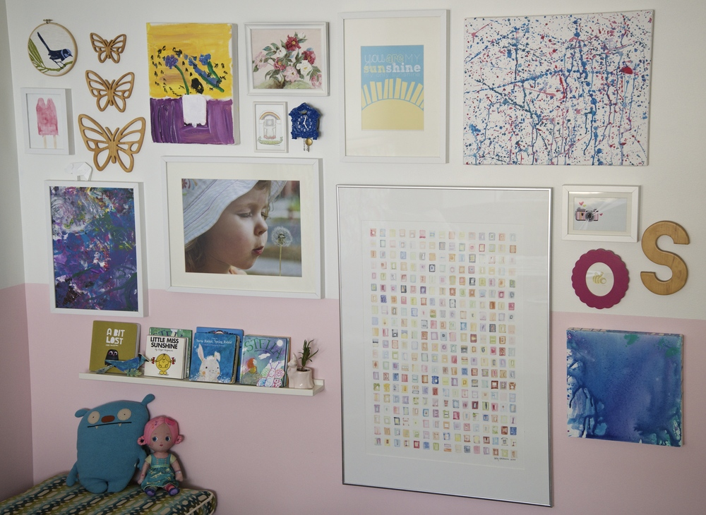 My daughter's bedroom gallery wall