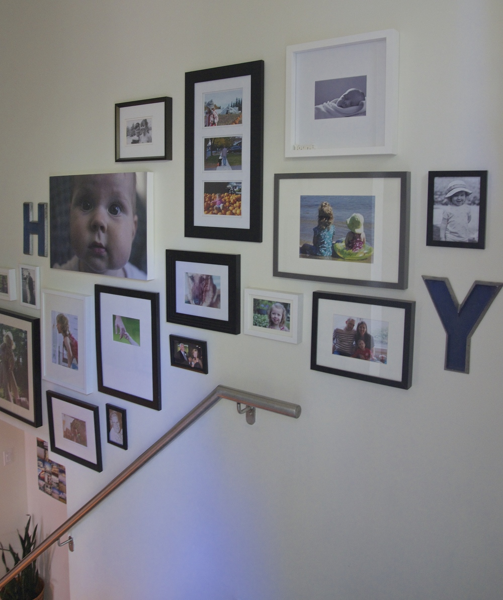 Stairwell gallery