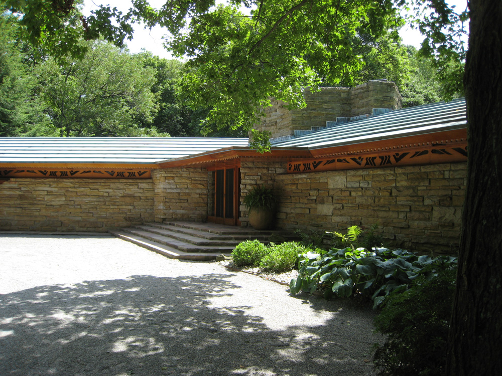 "This is ""Kentuck Knob"" another one of Wright's designs, complete with a sculpture garden on the grounds."