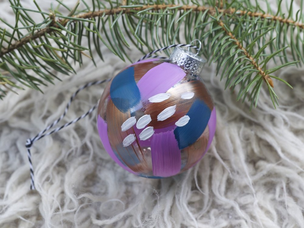 A selection of hand painted glass ornaments will be available.