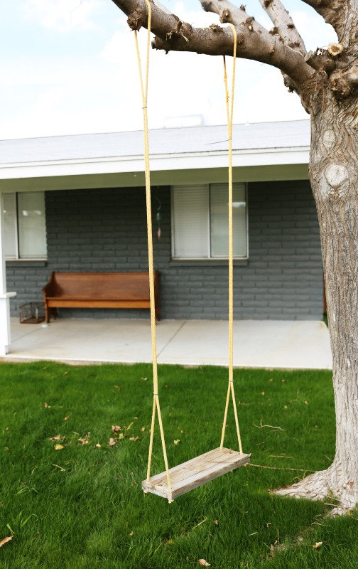 What little girl wouldn't love a swing in her front yard?