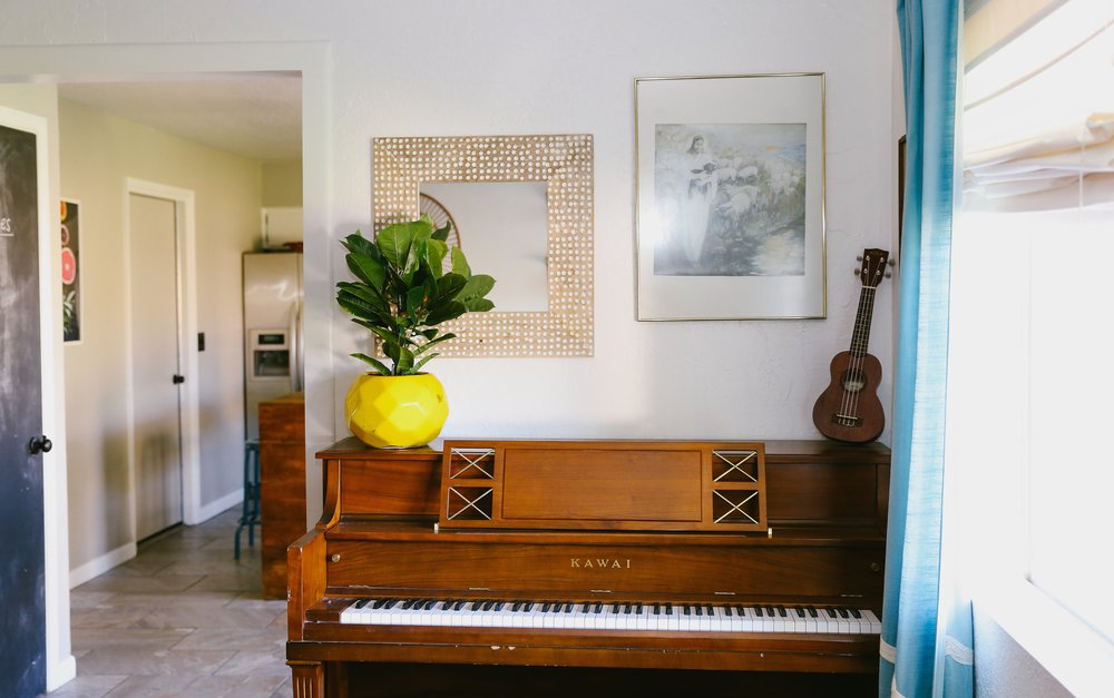 Kate's in-laws gifted her the piano her first Christmas with them. Such a thoughtful gift.