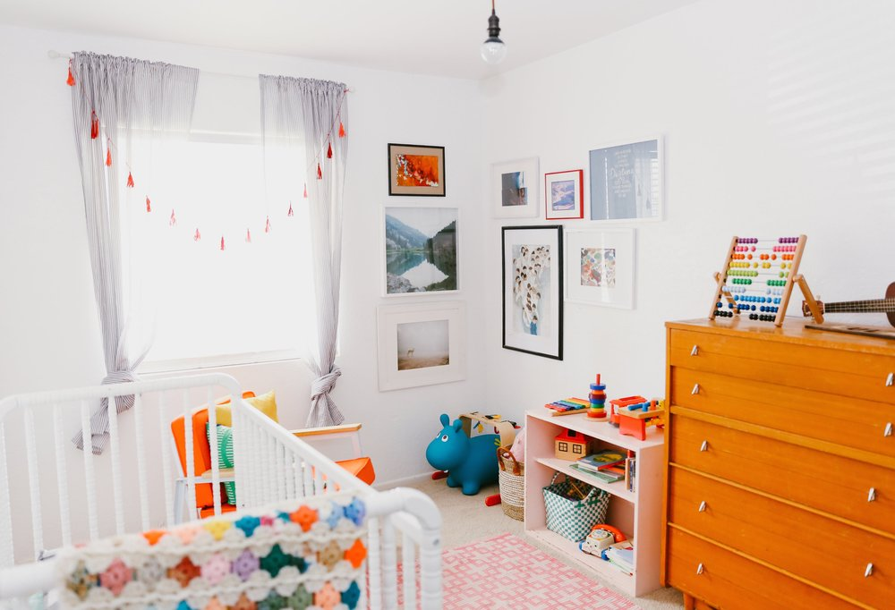 Lula's nursery is so whimsical & dreamy. The vintage dresser was a $40 Craigslist find.
