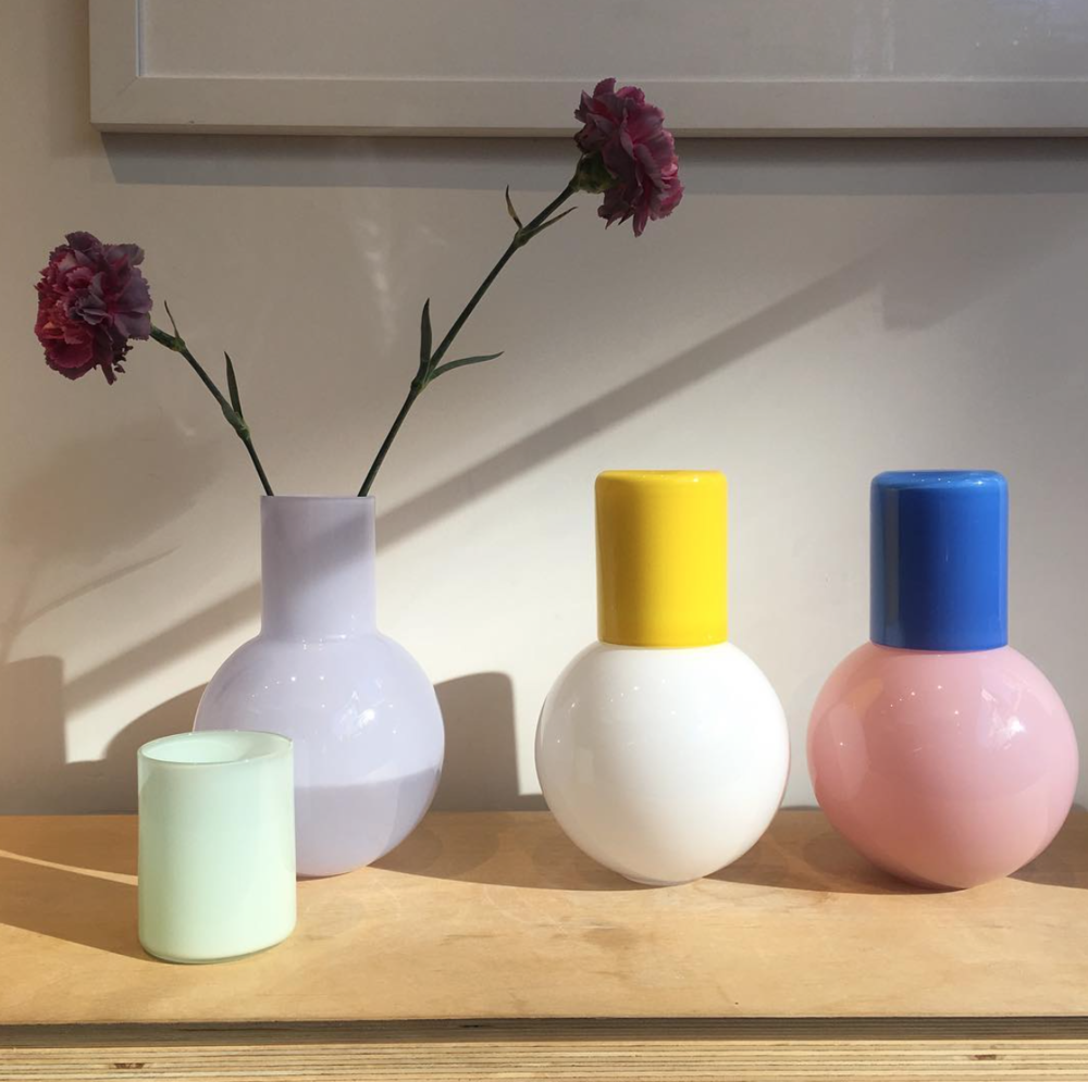 Colourful Carafes by Anna Karlin Studio.