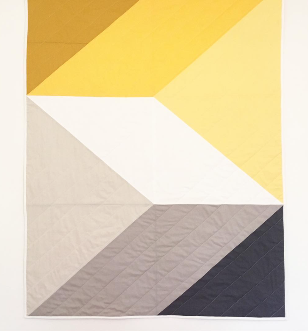 The geometric pattern and colours on this piece really caught my eye.