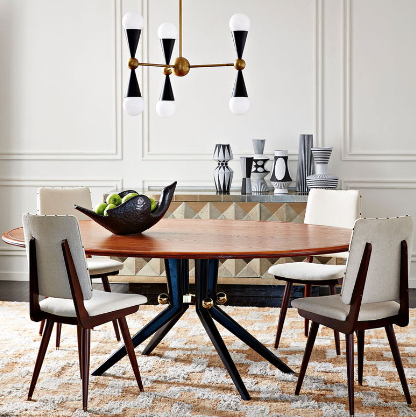 This gorgeous design by Jonathan Adler is part of his new Trocadero Collection.