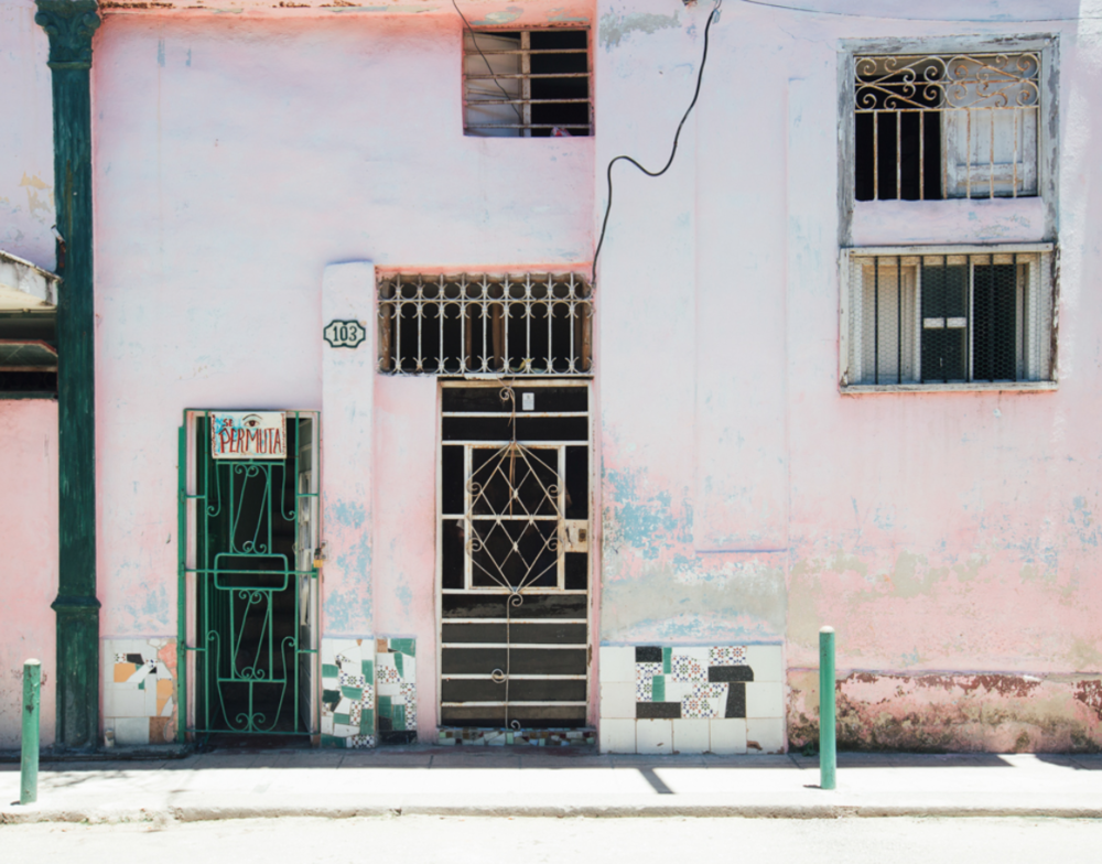 Pink Wall in Havana by Julie Holder