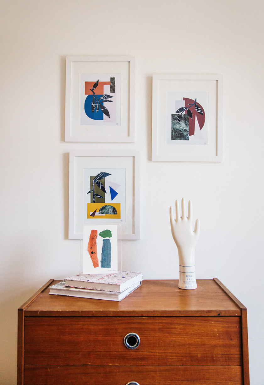 My three framed collages available through  Jenny's Print Shop . Also an original collage in lucite frame.
