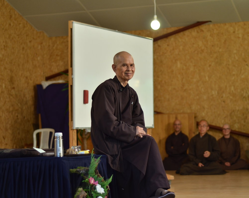 Thich Nhat Hanh, photo courtesy of monastic Sangha