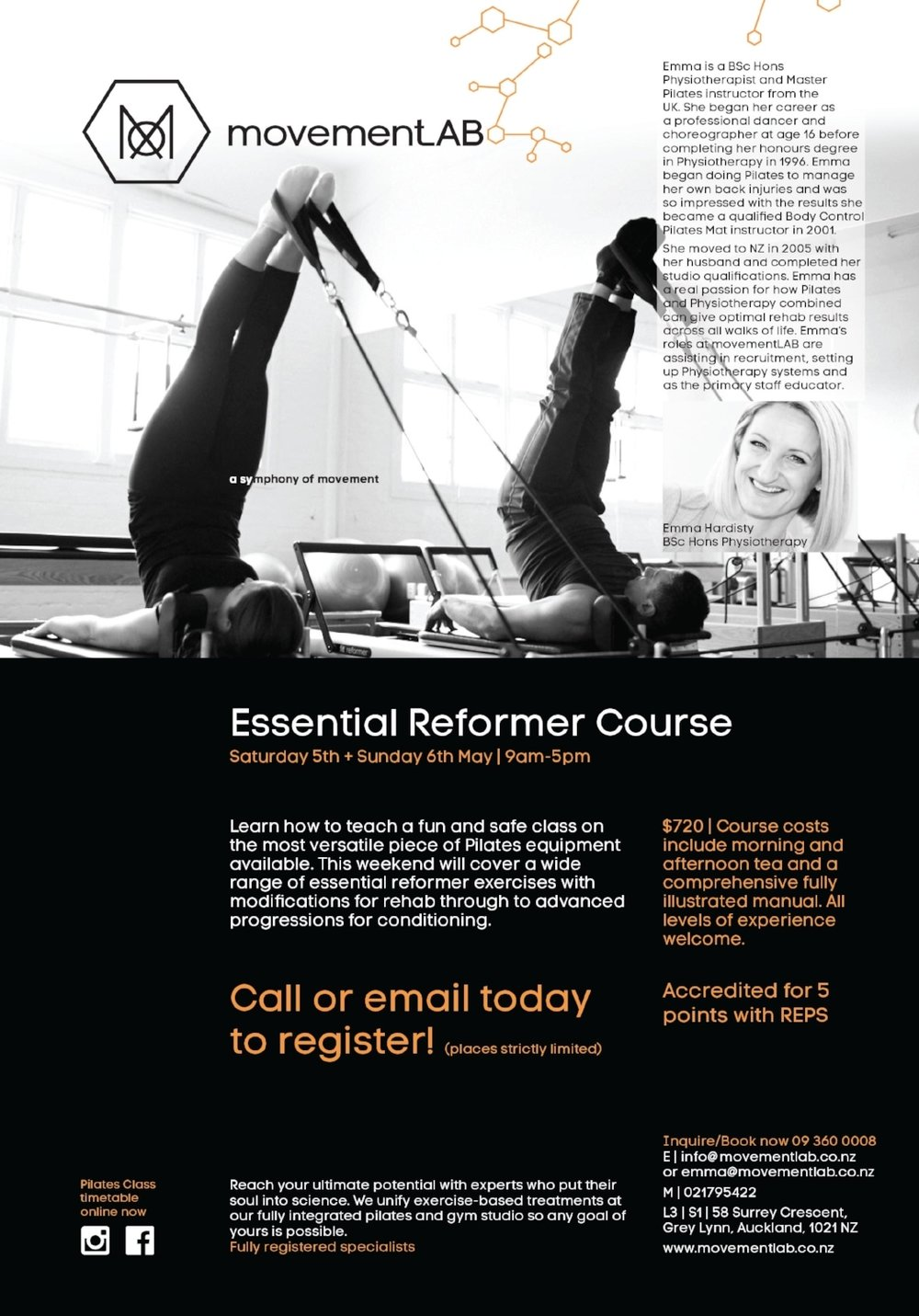 movementLAB essntial reformer course