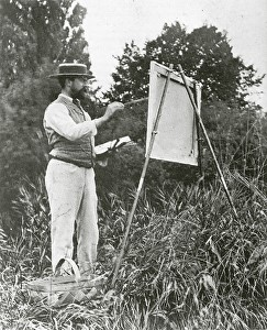 One of my all time favorite painters, John Singer Sargent, immersed in his craft.