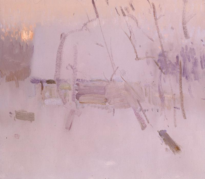 "Bato Dugarzhapov ""Winter Sunset"", oil, 12x14 inches"