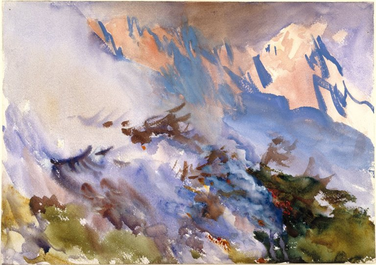 John Singer Sargent Mountain Fire (Watercolor on paper. c1903. Brooklyn Museum of Art.)