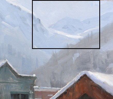 Dave Santillanes Telluride Homes (Detail), Oil, 12x9