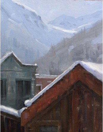 Dave Santillanes Telluride Homes, Oil, 12x9