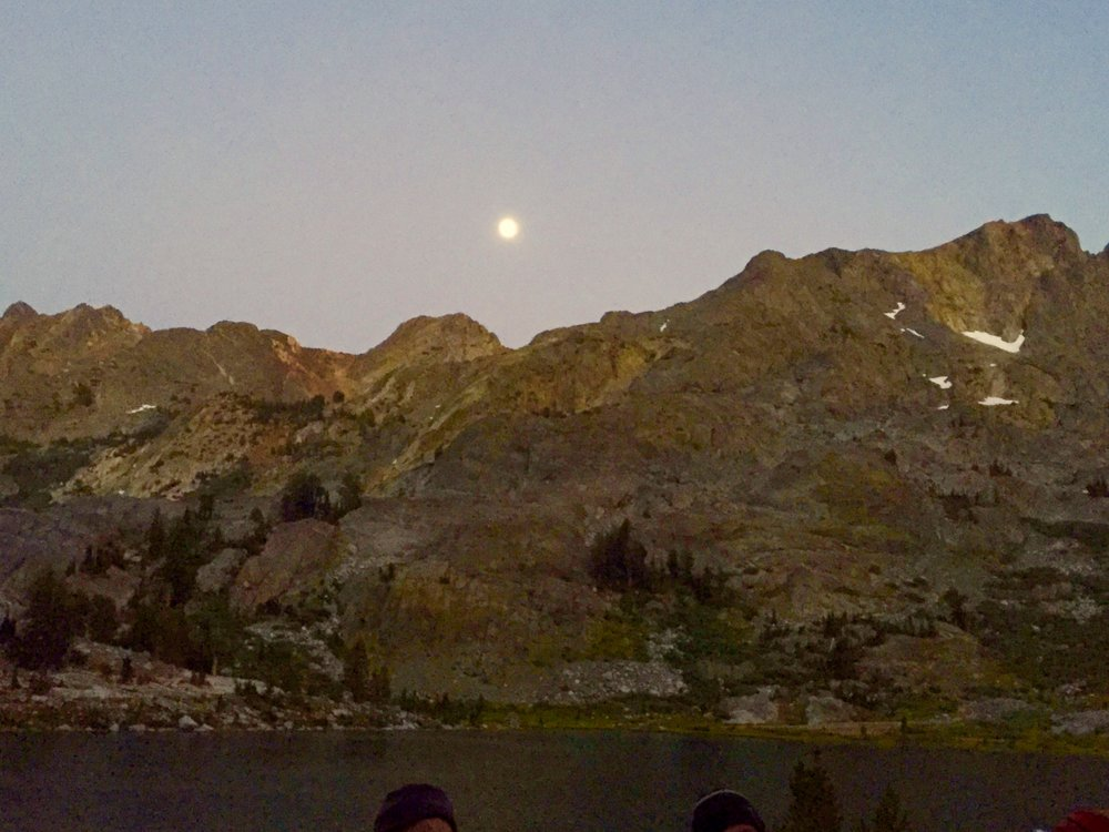 Full moon over Ediza Lake