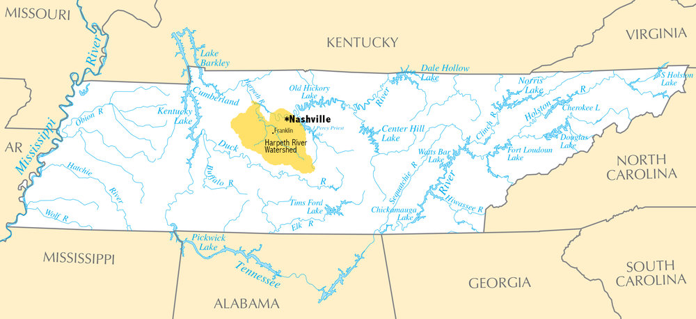 The Tennessee River and streams — the Harpeth River Watershed Area