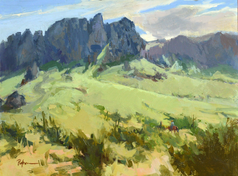Into the Superstitions, 12x16, oil on ABS.
