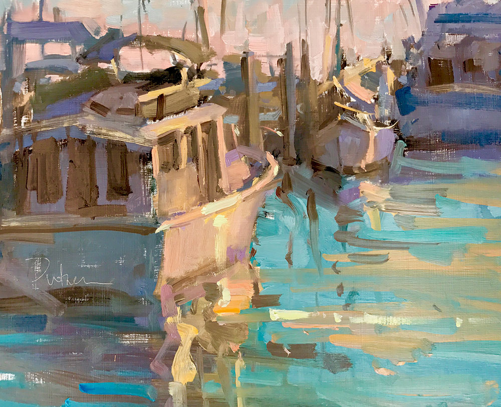 Magic at the Marina, 8x10, plein air.